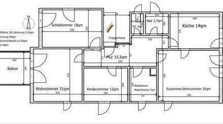4-Zimmer Dachgeschoss Wohnung