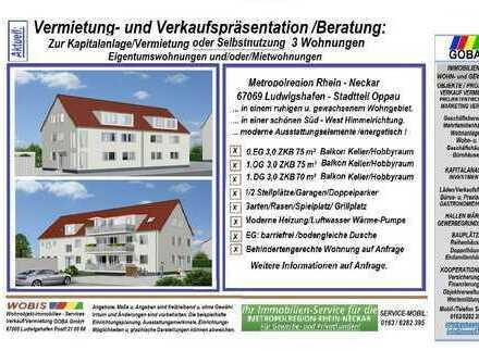 Lu Oppau 12-2018 o. später//3,0 ZKB 75 m² 1.OG Westbalkon verkehrsgünstig zur BASF aber ruhige Lage