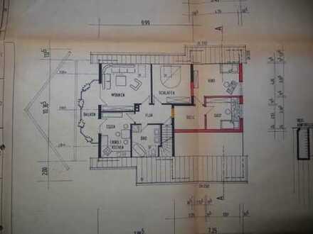Vollständig renovierte 4-Zimmer-Dachgeschosswohnung mit Balkon und Einbauküche in Wangen
