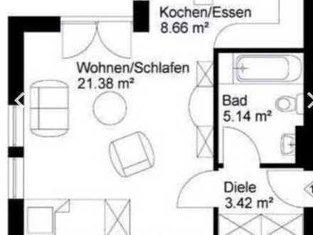 Gepflegte 1-Zimmer-EG-Wohnung mit Balkon und Einbauküche in Walldürn