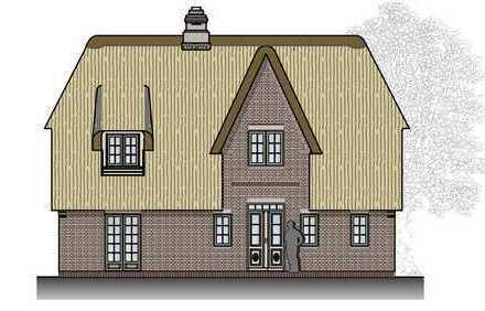Neubau eines Strandhauses unter Reet in wattnaher Lage von List