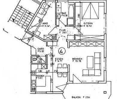 Schöne 3-Zimmer Wohnung mit Balkon nähe Klinikum Donaueschingen