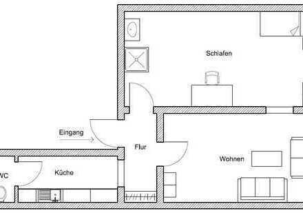 Tolle 1-2 Zimmer Wohnung nähe Ludwigsburg Bahnhof