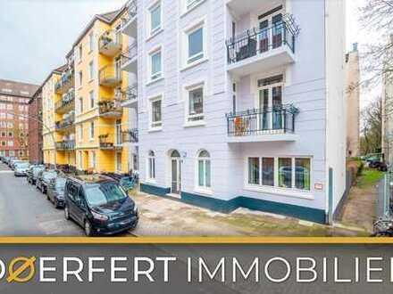 Hamburg - Eimsbüttel   Perfekt geschnittene gepflegte 2-Zimmer-Wohnung mit Balkon und Keller