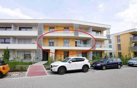 Erstbezug: Helle 3-Zimmer-Wohnung mit großem Südbalkon, extra Duschbad – und eigenem Solarmodu
