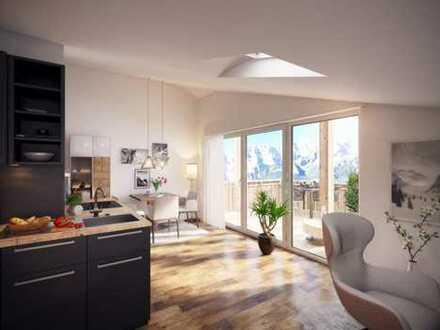 2-Zimmer Dachgeschoss-Wohnung mit großem Balkon