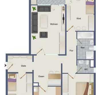 +Bezugsfrei+ Sonnige und geräumige, 4,5 Zimmer Wohnung mit Ausblick in Kornwestheim-Ost mit Aufzug!