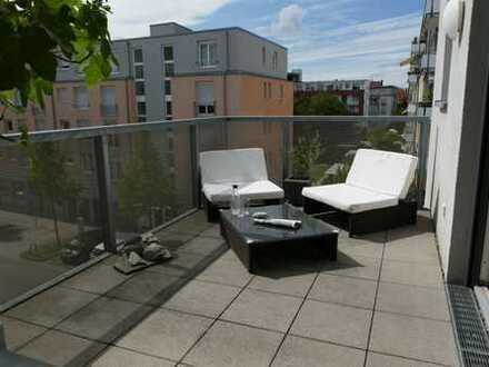 Hochwertige, teilmöblierte 3-Zimmer-Wohnung mit Balkon, Loggia und EBK im Citypark