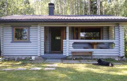 Rund-Block-Holzhaus in Parikkala kompl. möbliert