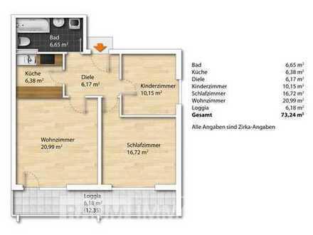 Gut geschnittene 3 ZKB Wohnung in ordentlicher Wohnanlage **Ideal für München-Pendler**