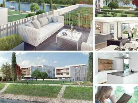 Exklusive 2-Zimmer Wohnung mit Rheinblick und grossem Gartenanteil in Top-Lage von privat