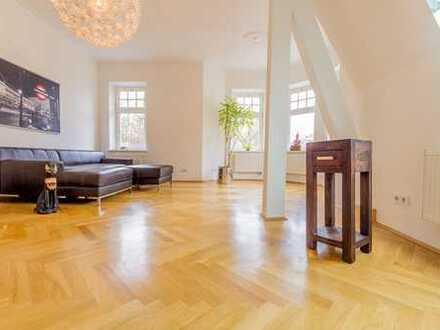 BOGENHAUSEN/HERZOGPARK: Schöne, geräumige 5 Zimmer Whng mit 2 BALKONEN, DACHTERASSE u. GARTEN