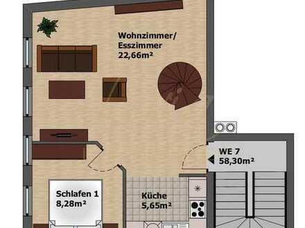 LIVIA-IMMO.DE :-) +GEMÜTLICHE DG-MAISONETTE-WOHNUNG IM ZENTRUM+FRISCH RENOVIERT+