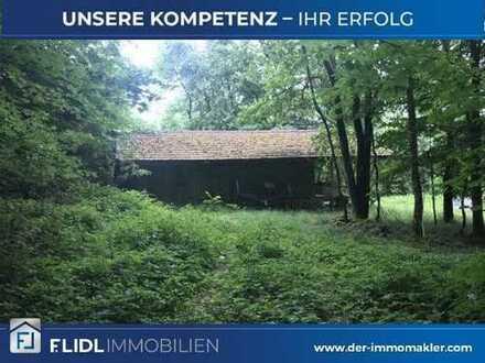 Freizeitgrundstück mit Hütte Nähe Bad Griesbach zu verkaufen