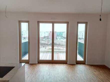 Parkend Neubau: exklusive 2-Zimmer-Wohnung mit Parkblick in Frankfurt am Main/Europaviertel