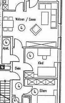 Gepflegte 3-Zimmer-Wohnung mit Balkon und EBK in Selm