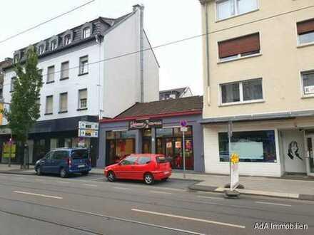 Krefeld- Rheinstraße ! Gewerbeimmobilie oder Baulücke für ein Wohn- und Geschäftshaus ?