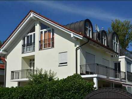 Architekten-Villa, mediterran, unverbaubares Anwesen, sonnig, 10 Zi., München-Daglfing, KEINE Makler
