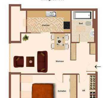 Eine gut geschnitte Wohnung unterm Dach