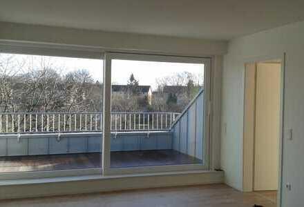 Stilvolle, neuwertige 2-Zimmer-Terrassenwohnung mit Balkon und Einbauküche in Münster