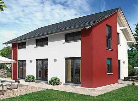 Tolles helles Haus mit sehr schöner Architektur, inkl.Grundstück & Keller