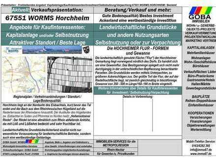 Landwirtschaftliche Grundstücke Worms Horchheim Metropolregion RN