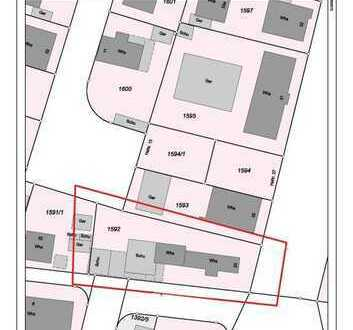 Mannheim-Käfertal: ÄNDERUNG !!! Baugrundstück für 8 - FH oder EFH/DHH/RH, GFZ 0,8 = 700m²+115m²