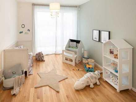 Optimal für Familien! 4-Zimmer-Neubauwohnung im EG mit Terrasse und Mietergarten nahe Stadtzentrum