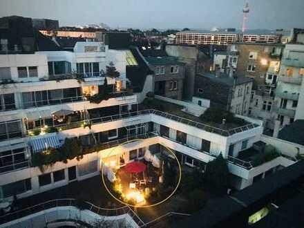 Moderne Gartenwohnung mitten in der City