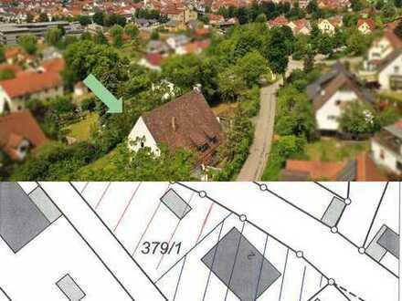 Baugrund mit Bestandsgebäude in Südwestlage am Arzberg von Beilngries