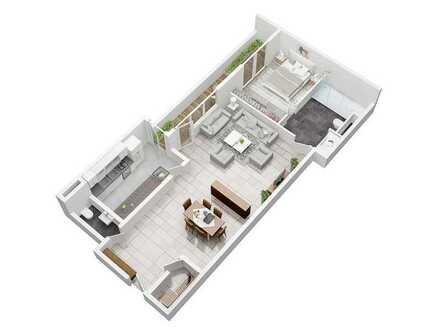 Großzügige 2-Zimmer Eigentumswohnung in Ladenburg