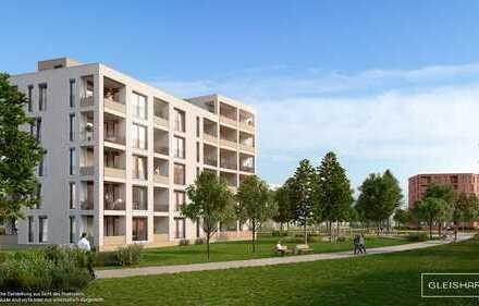 Umgeben von großzügigen Frei- und Grünflächen: Durchdachte 3-Zimmer-Wohnung mit Loggia