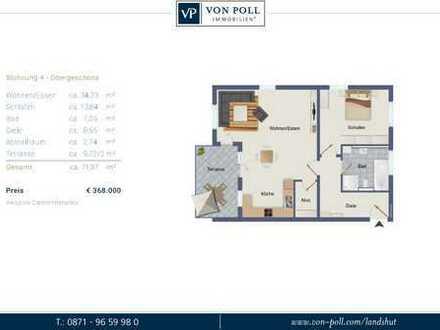 Für Junge und Junggebliebene! 2 Zimmer Neubauwohnung mit SW-Balkon