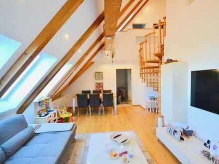 3,5 Zi.- Maisonette-Wohnung mit Galerie & Dachterrasse !