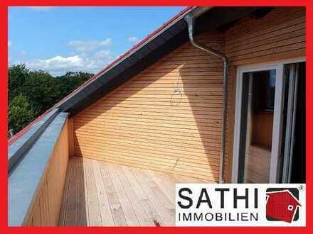 3-Zi-DG-Wohnung mit Loftcharakter, Kamin und Terrasse in ruhiger Ortslage zu vermieten!