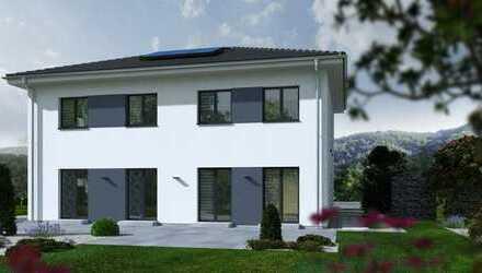 KFW 55 Zweifamilienhaus mit Miele- Markenküche oder Garage oder Kaminofen oder...... und Bauplatz