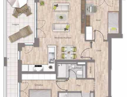 Erstbezug: attraktive 3-Zimmer-Wohnung mit Balkon und Blick ins Grüne in Allach, München