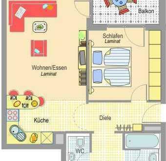 Stadtnah Wohnen! 2,5-Zimmer Wohnung - ideal für Singles oder Senioren
