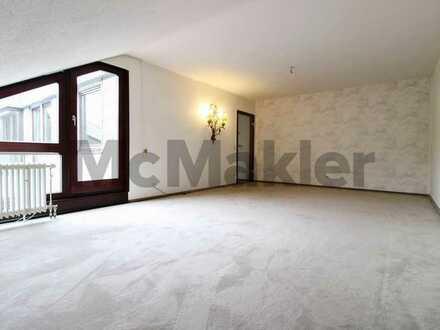 3-Zimmer-Dachgeschosswohnung mit 20 m²-Sonnenterrasse und viel Potenzial in bester Wohnlage