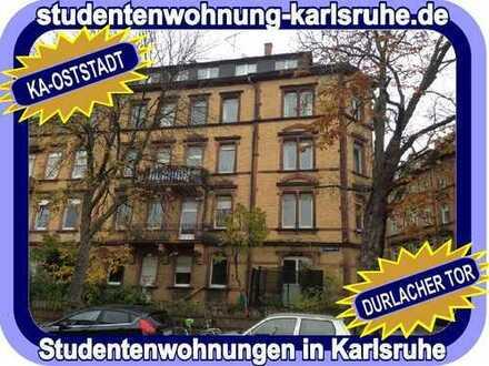 STUDIEREN IN KARLSRUHE = MÖBLIERTE 5-ER WG-WOHNUNG IM HERZEN DER OSTSTADT - NÄHE DURLACHER TOR...