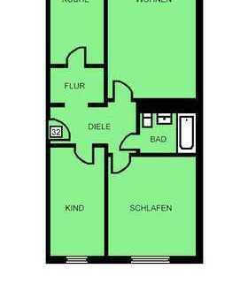 Super 3 Raum Wohnung für Sparfüchse!