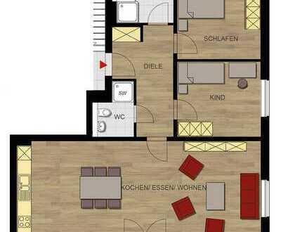 Einziehen und wohlfühlen! Moderne 3-Zimmer-Wohnung mit Balkon