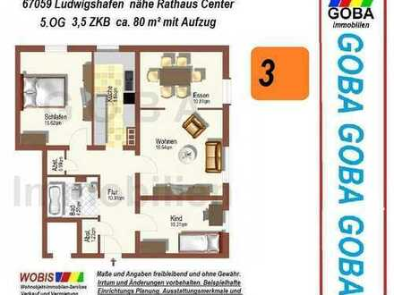 Lu City 1.9.2019 früher/später- 3,0 ZKB 80 m² kompakte Wohnung - evtl. EBK nahe Rathaus Center