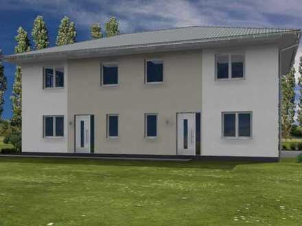 Doppelhaushälfte in Vogelsdorf mit großem Grundstück.