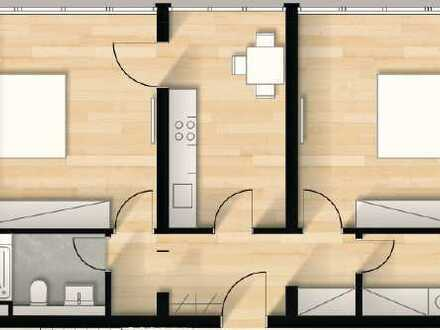 Tolle 2-Zimmer-Wohnung inklusive moderner Einbauküche