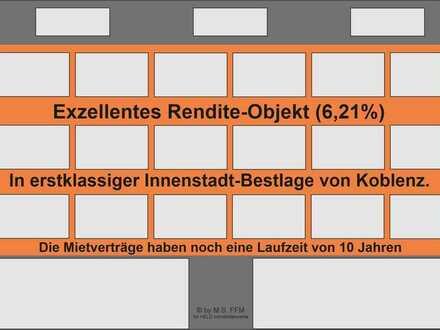 Renditeobjekt in Innenstadt-Bestlage! Vermietete Praxis-Etage plus 2 Wohnapartments.