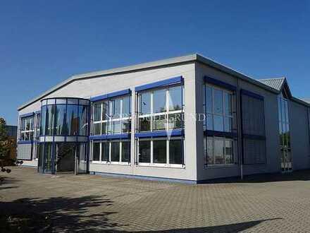 Gewerbeimmobilie an A5 Autobahnanschluss für Produktion, Logistik & KFZ-Handel. Ca. 4.400 m² Grdstk.