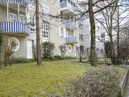 MÜNCHNER IG: Bezaubernde 2-Zimmer Wohnung mit Gartenanteil & Terrasse zum ruhigen, grünen Innenhof