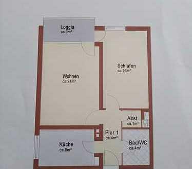 Stilvolle 2-Zimmer-Erdgeschosswohnung mit Balkon in Eglharting