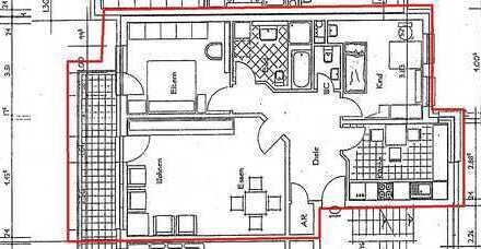 helle 3-Zimmer-Wohnung mit Balkon und guter Verkehrsanbindung